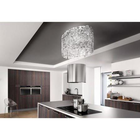 Faber 345.0492.592 Nest Plus Stainless Steel Retractable Island Cooker Hood With Glass Cowl