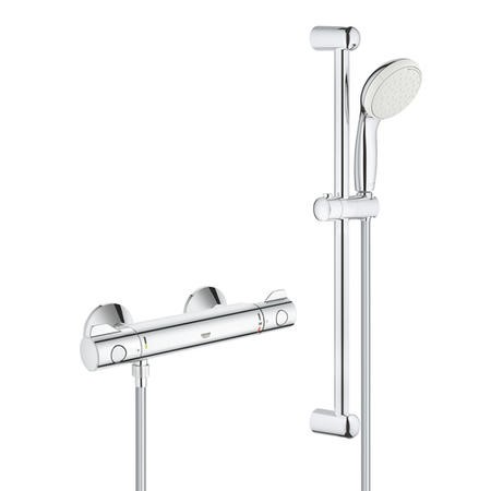 "Grohe Grohtherm 800 Thermostatic Shower Mixer 1/2"" with Shower Set"