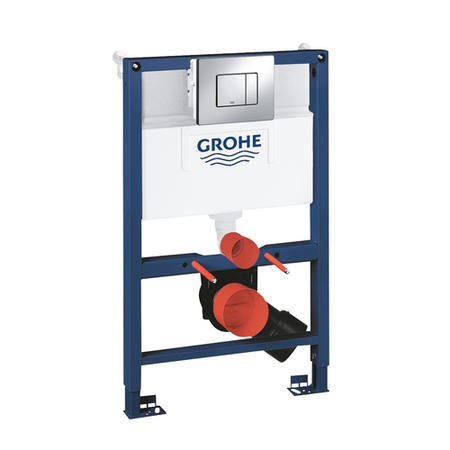 Grohe Rapid SL 0.82m 3 in 1 Set Low Noise Support Frame for Wall Hung WC