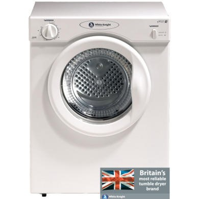 White Knight 38AW 3kg Freestanding Vented Tumble Dryer - White