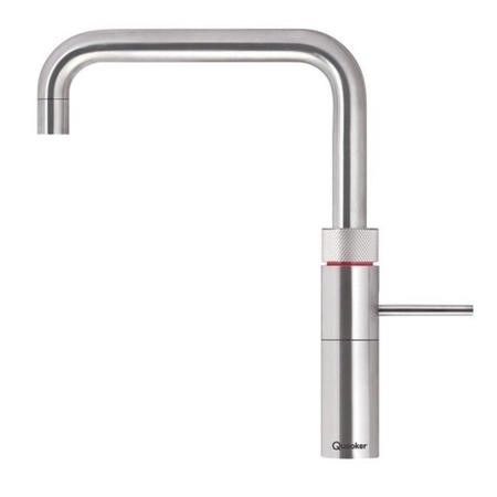 Quooker Fusion Square Stainless Steel 3-in-1 Boiling Water Kitchen Tap