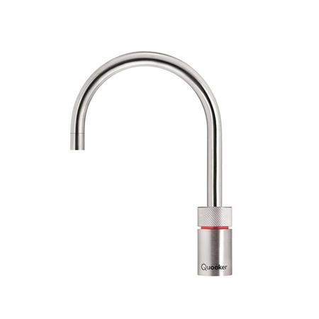 Quooker Nordic Round Stainless Steel Instant Boiling Water Kitchen Tap