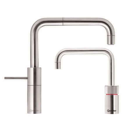 Quooker Chrome Single Lever Boiling Water & Mixer Kitchen Tap - Nordic