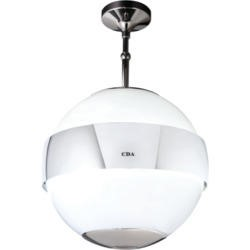 CDA 3S10WH Spherical Designer Island Cooker Hood With Neon Lighting White