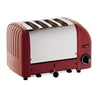 Dualit 40353 4 Slot Vario Toaster In Red