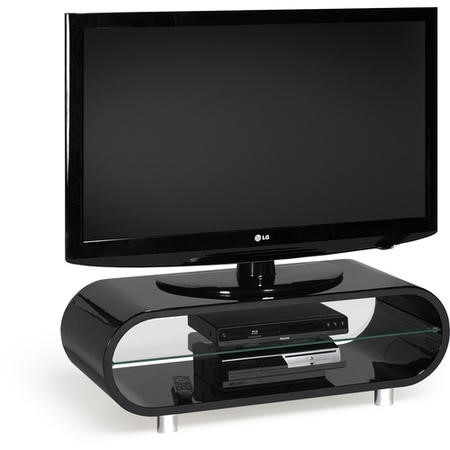 Techlink Black OV95 Ovid TV and HiFi Stand - TV's up to 50""