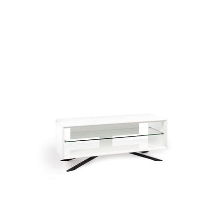 Techlink Arena White Carcass Clear Glass Base for screens up to 55kg