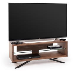 "Techlink Arena AA110W - For screens up to 55"" max weight 50kg - Walnut with Clear Glass"