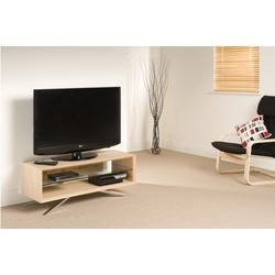"Arena AA110L elegantly designed AV unit for screens up to 50"" max weight 50kg - Light oak carcass w"