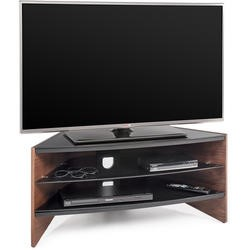 "Riva RV100W curved wood AV support unit for screens up to 42"" max weight 50kg -  Walnut side panels"