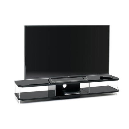 TechLink Gloss Black Acrylic and Glass Unit for screens up to 80""
