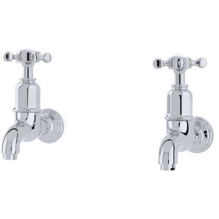 Perrin and Rowe 4328CP Traditional collection Mayan Bibcock Taps Wall Mounted
