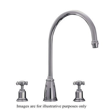 Perrin and Rowe 4370CP Traditional collection Athenian Three Hole Sink Mixer Tap