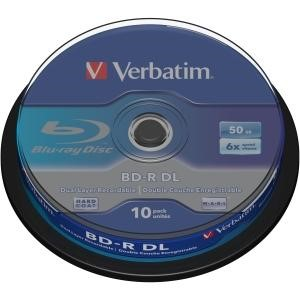 Verbatim 10PK Blu Ray 50GB 6X BD-R SP Disks