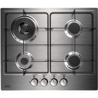 Belling 444410131 GHU602GC 60cm Front Control Four Burner Gas Hob - Stainless Steel