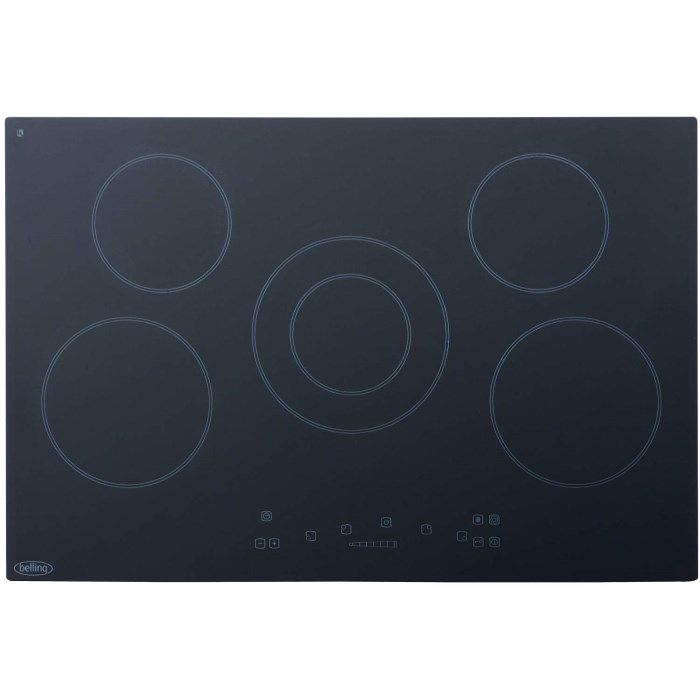 Belling CH77TC 77cm Wide 5 Zone Touch Control Ceramic Hob - Black 444443063