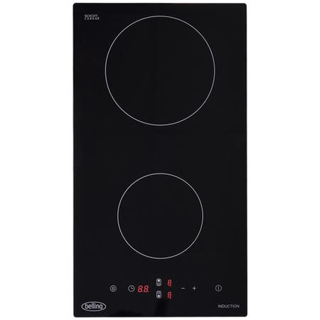 Belling 444410138 IH302T 30cm Touch Control Two Zone Induction Hob - Black