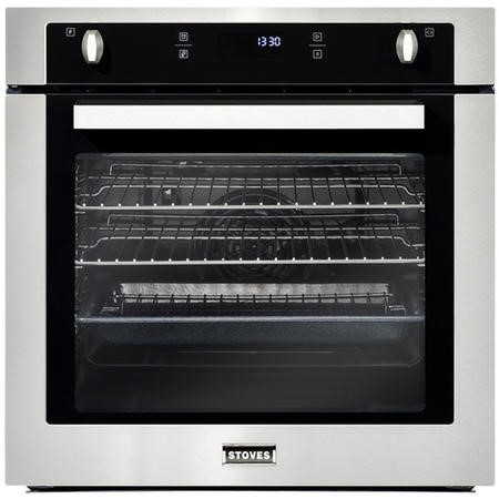 Stoves SEB602F 73L Built-in Single Fan Oven With Programmable Timer - Stainless steel