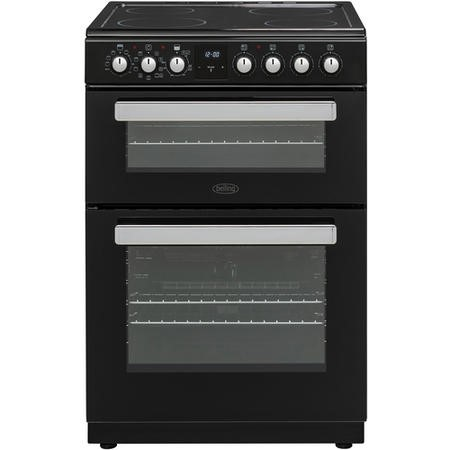 Belling FSE608MFc 60cm Double Oven Multifunction Electric Cooker - Black
