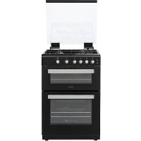 Belling FSG608Dc 60cm Double Oven Gas Cooker - Black Best Price, Cheapest Prices