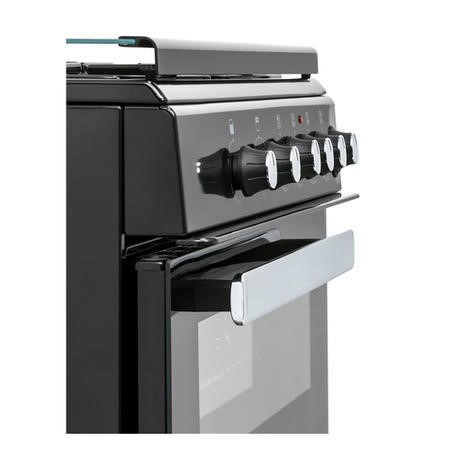 Belling FSG608Dc 60cm Double Oven Gas Cooker - Black