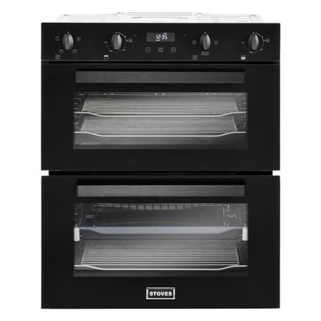Stoves 444410212  BI702MFCT Electric Built-under Fan Double Oven - Black