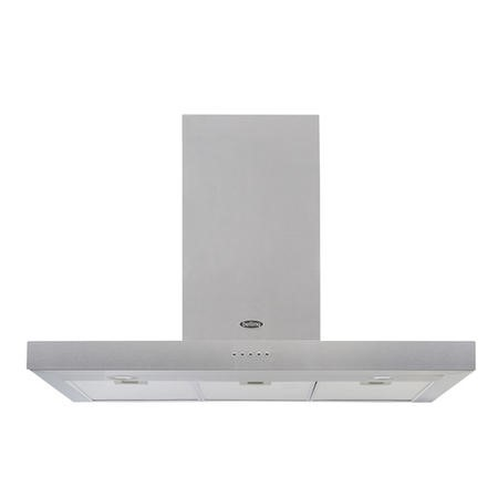 Belling Cookcentre 90 Chim 90cm Flat Chimney Cooker Hood - Stainless Steel