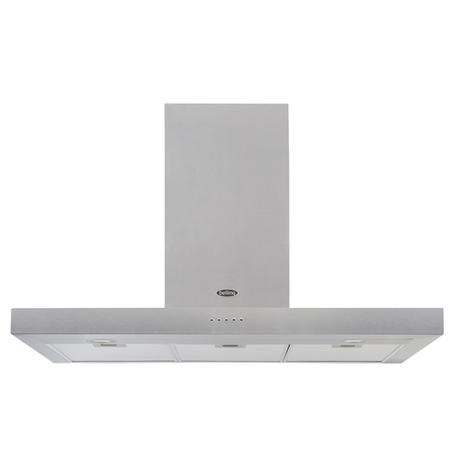 Belling Cookcentre 110 Chim 110cm Flat Chimney Cooker Hood - Stainless Steel