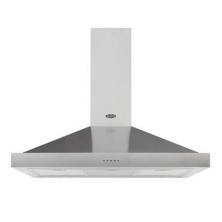 Belling Cookcentre 90 Chim 90cm Chimney Cooker Hood - Stainless Steel