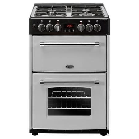 Belling Farmhouse 60DF 60cm Double Oven Dual Fuel Mini Range Cooker - Silver