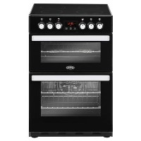 Belling Cookcentre 60E 60cm Double Oven Electric Cooker With Ceramic Hob - Black Best Price, Cheapest Prices