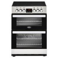 Belling Cookcentre 60E 60cm Double Oven Electric Cooker With Ceramic Hob - Stainless Steel Best Price, Cheapest Prices