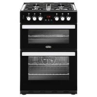 Belling 444410821 Cookcentre 60DF 60cm Double Oven Dual Fuel Cooker - Black