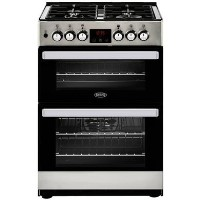 Belling 444410822 Cookcentre 60DF 60cm Double Oven Dual Fuel Cooker - Stainless Steel