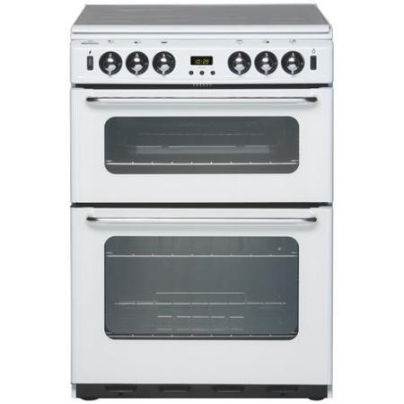 New World Newhome 600TSIDOm 60cm Double Oven Gas Cooker - White