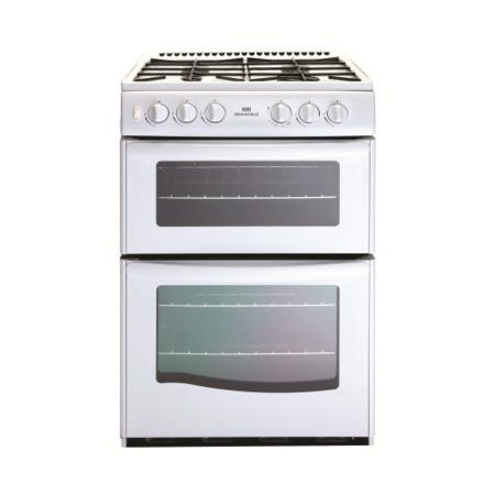 New World G55TT Twin Cavity Gas Cooker in White