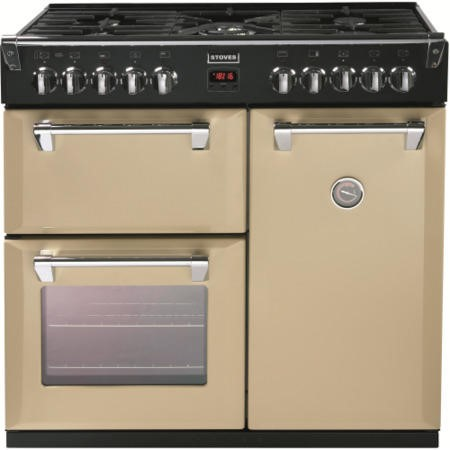 Stoves Richmond 900DFT 90cm Dual Fuel Range Cooker - Champagne