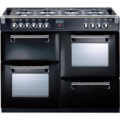 444440199 Stoves Richmond 1000DFT 100cm Dual Fuel Range Cooker - Black