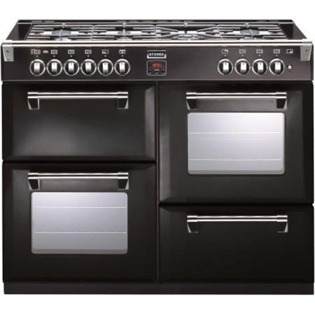 Stoves Richmond 1100DFT 110cm Dual Fuel Range Cooker - Black