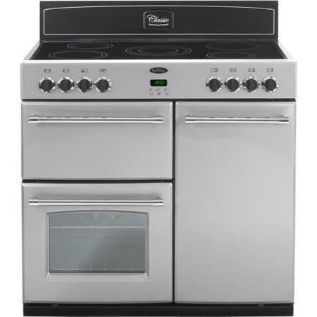 Belling Classic 90e 90cm Electric Range Cooker In Silver