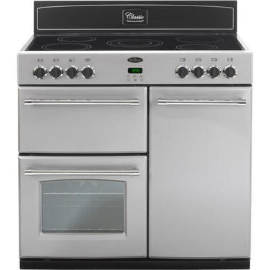 444440384 Belling Classic 90E 90cm Electric Range Cooker in Silver
