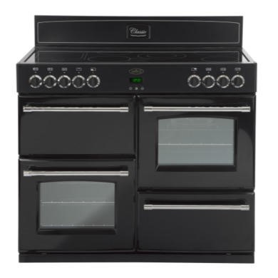 Belling Classic 100E 100cm Electric Range Cooker - Black