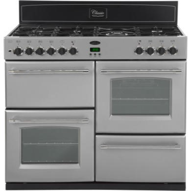 444440401 Belling Classic 110GT 110cm Gas Range Cooker in Silver
