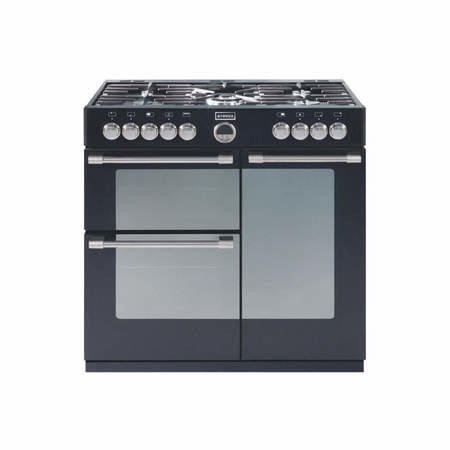 Stoves Sterling 900DFT 90cm Dual Fuel Range Cooker - Black