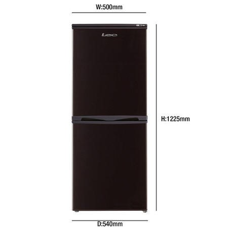 Lec T5039B 50cm Wide Freestanding Fridge Freezer - Black
