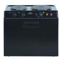 Belling BABY BELLING 121R Compact Electric Cooker Black