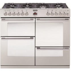 Stoves Sterling R1100DFT 110cm Dual Fuel Range Cooker - Stainless Steel