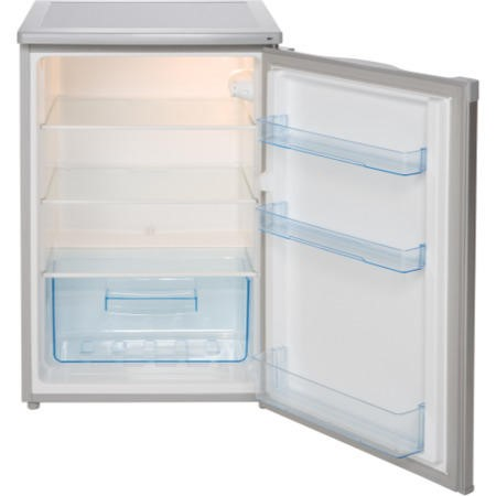 LEC L5511S 55cm Wide Freestanding Under Counter Fridge - Silver