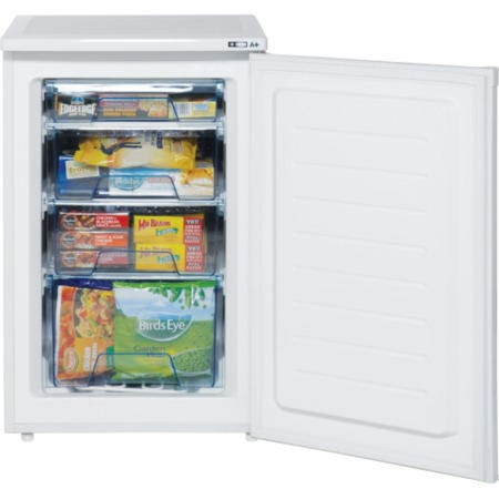 LEC U5511 55cm Wide Freestanding Upright Under Counter Freezer - White