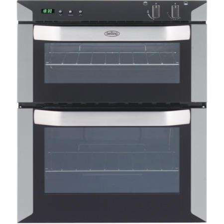 Belling BI70MLPG LPG Gas Built-under Double Cavity Oven Satin Steel